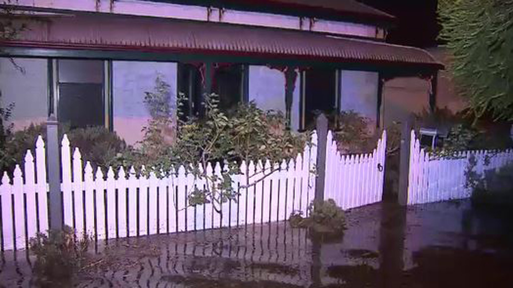 Relief centres were set up by the SES for people forced from their homes due to the storm. (9NEWS)