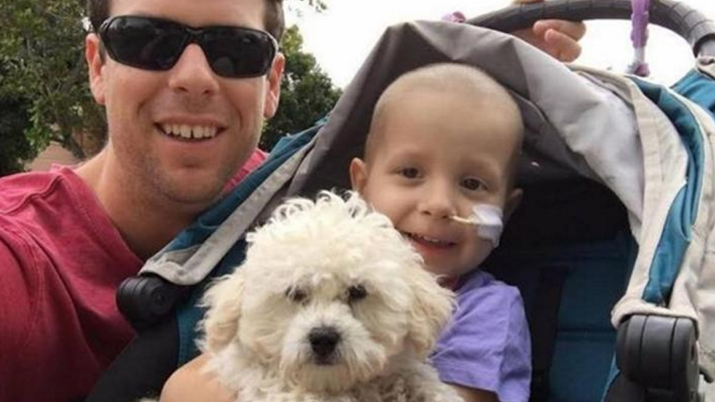 Adam Koessler and his daughter Rumer, who died of cancer.