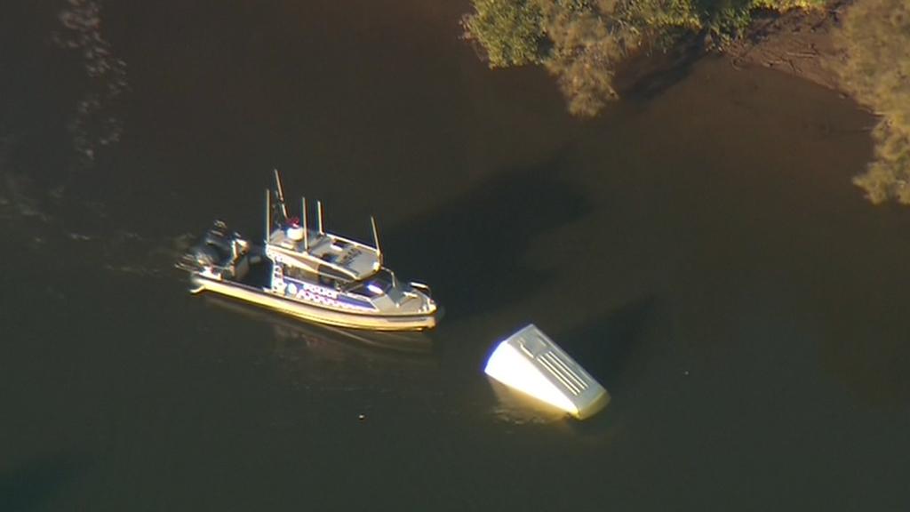 Police investigating after van found floating in Sydney river