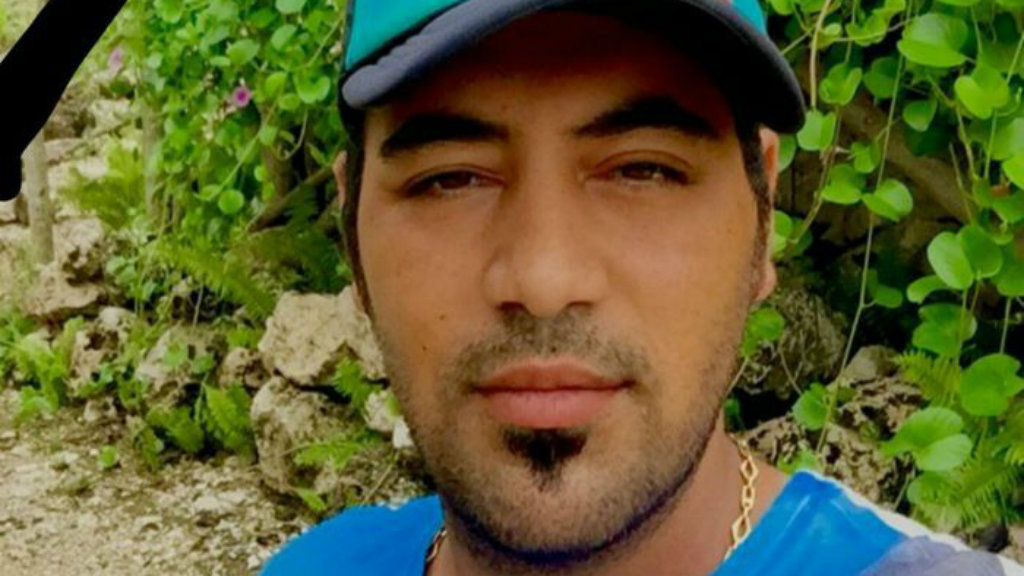 A man believed to be Omid, who died after self-immolating on Nauru last month. (Supplied)