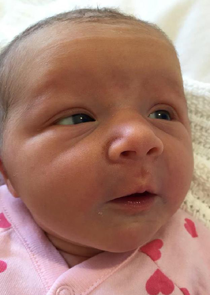 Violet May Maslin was born on Tuesday, May 10. (Supplied)