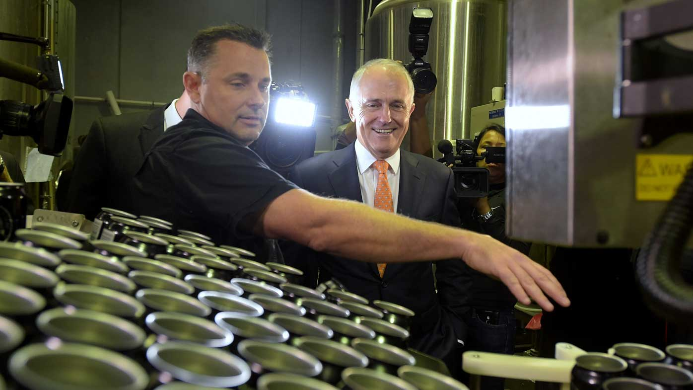 Beer and Bruce: PM's brewery visit