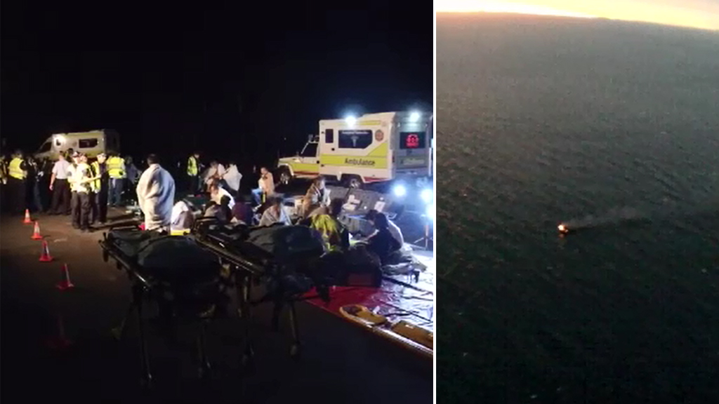 Forty-six people were rescued. (9NEWS)