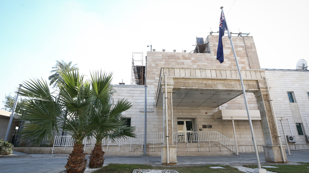 The Australian embassy in Baghdad.