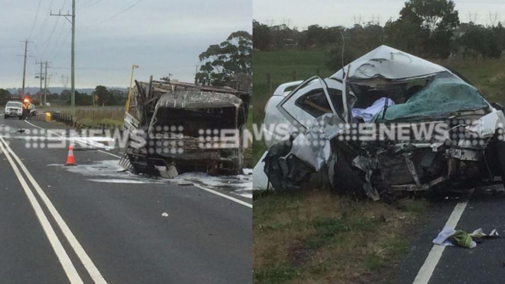 Driver dead in fiery Vic crash