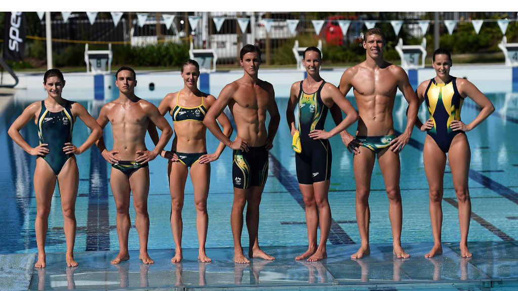 <p>Some of Australia's top aquatic athletes have become the latest to model their Rio Olympics uniforms, unveiling green and gold Speedo swimsuits on the Gold Coast today. </p><p>The swimwear will be packed in suitcases alongside special ceremonial and competition uniforms, designed by Sportscraft and Adidas respectively, for the games in Brazil in August. </p>