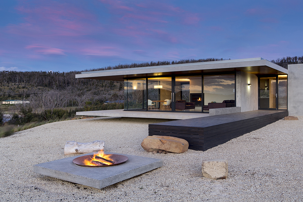 Tasmanian holiday retreat resurrected from the ashes for Home designs tasmania