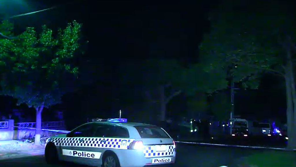 Police arrived at the scene around midnight. (9NEWS)