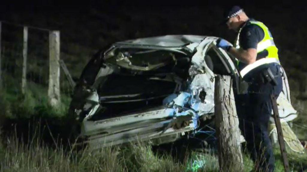 Queensland woman dead when car crashes and rolls near Geelong