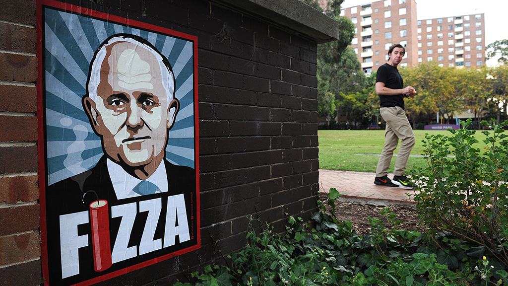 """The group behind a poster campaign targeting Mr Turnbull has called him a """"disappointment."""" (AAP)"""