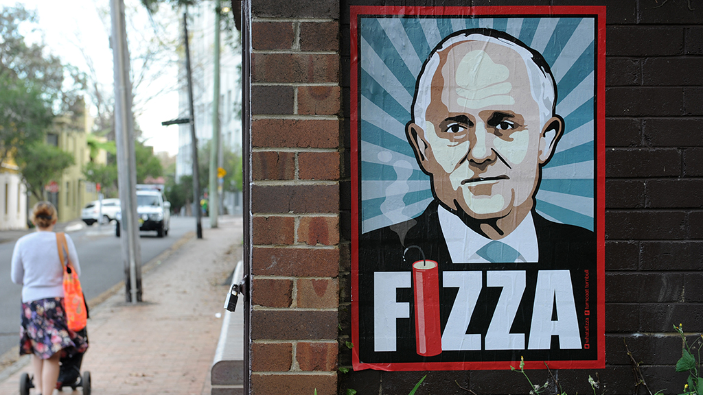 Poster campaign uses famous Keating comment to take a swipe at PM Malcolm Turnbull