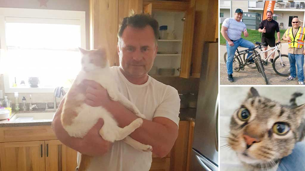 Man stays behind during wildfire evacuation to look after forgotten pets