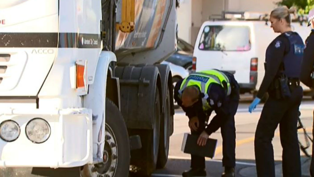 The truck driver is assisting police with their inquiries. (9NEWS)