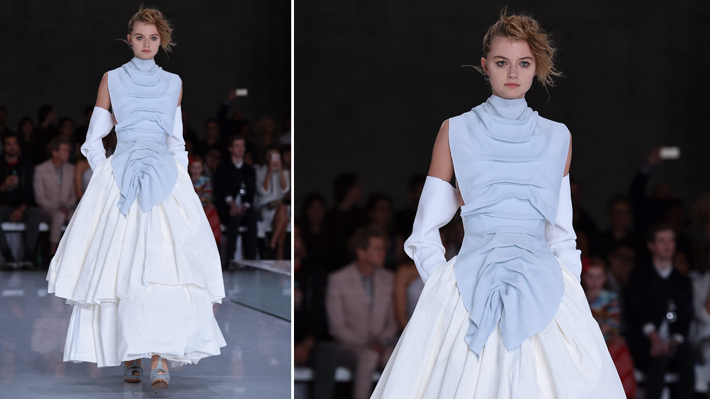 <p>Melbourne designer Toni Maticevski kicked off Mercedes-Benz Fashion Week Australia in Sydney yesterday.</p><p>The Macedonian-Australian designer is often referred to as Australia's own Alexander McQueen.</p><p>In attendance were a flock of models and celebrities, including Jennifer Hawkins, Elyse Knowles and Isabelle Cornish.</p><p>Sister design duo Ginger and Smart open day two of events today.</p><p>Fashion Week continues until this Friday.</p><p><strong>Click through to see the best shots from the runway.</strong></p><p> </p><p>A model walks the runway during the Maticevski show, at The Cutaway, Barangaroo, during the opening show of Fashion Week Australia in Sydney, Sunday, May 15, 2016. (AAP) </p>