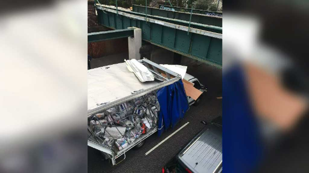 Another truck smashes into notorious Melbourne bridge