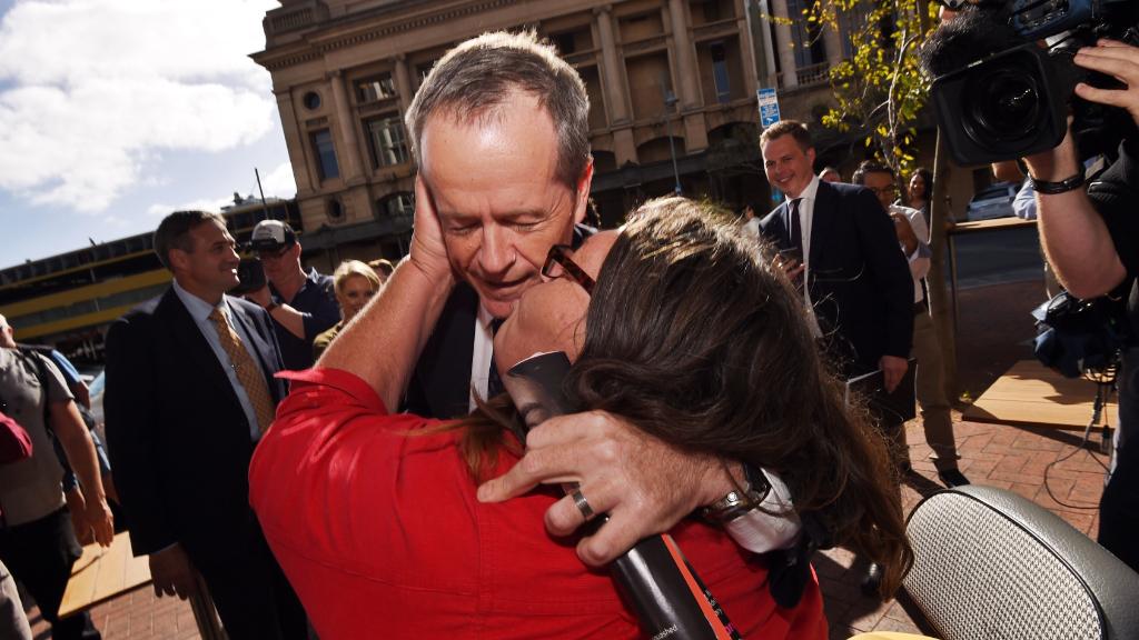 Bill Shorten was approached by Margo Carey. (AAP)