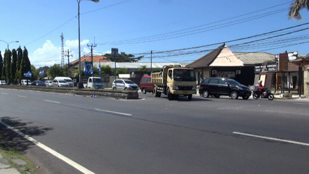 The man died at the scene, according to Denpasar Traffic Police. (9NEWS)