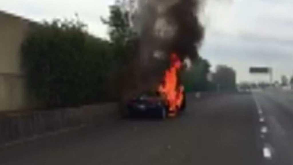 Car fire causes traffic delays on main Sydney road