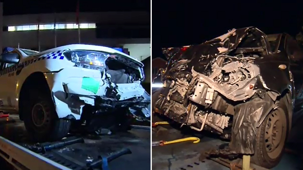 A woman was seriously injured in the crash at Auburn. (9NEWS)