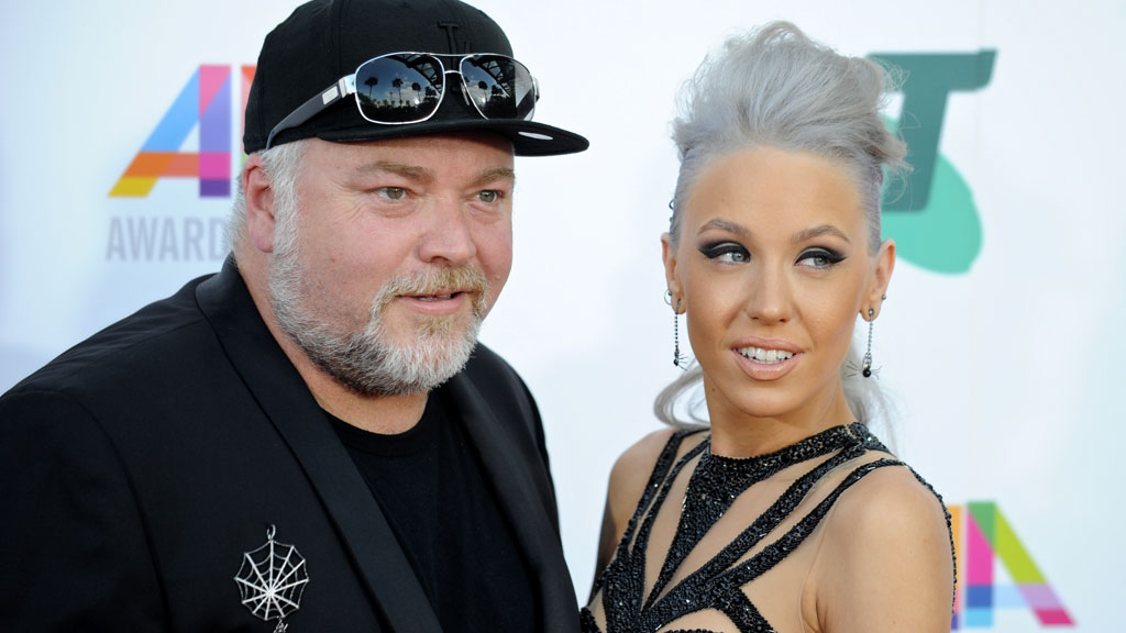 Kyle Sandilands and Imogen Anthony arrive at the 28th Annual ARIA Awards 2014. (Getty)