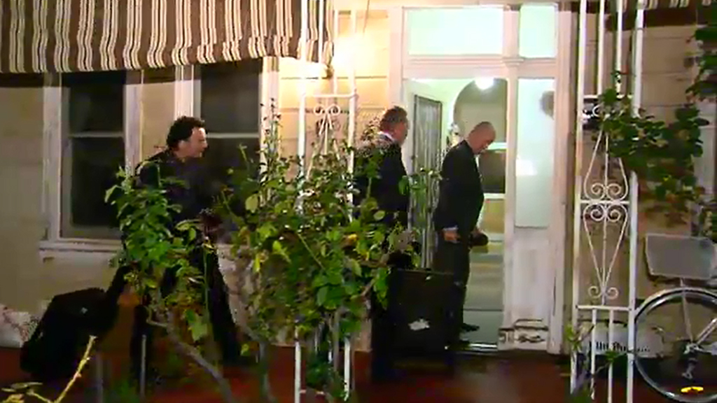 The AFP searched a Melbourne home. (9NEWS)