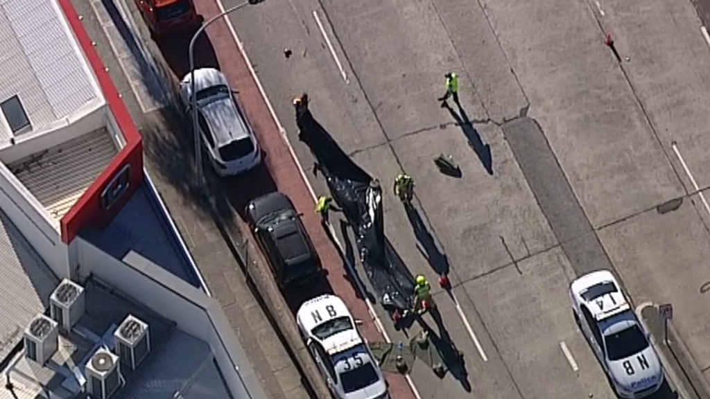 The 57-year-old driver of the truck has been taken to hospital for mandatory testing. (9NEWS)