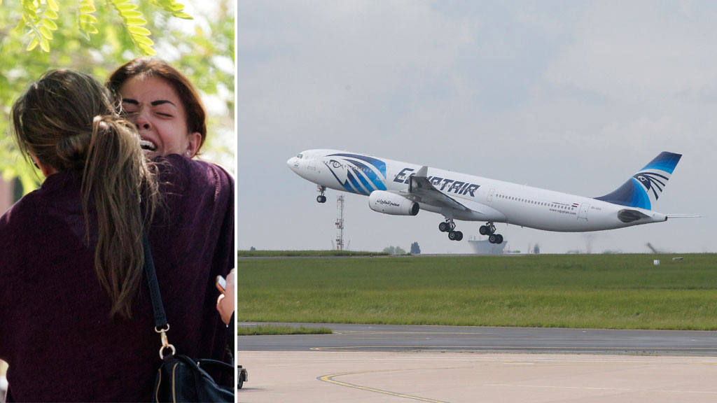 Body part, seat found in EgyptAir jet hunt