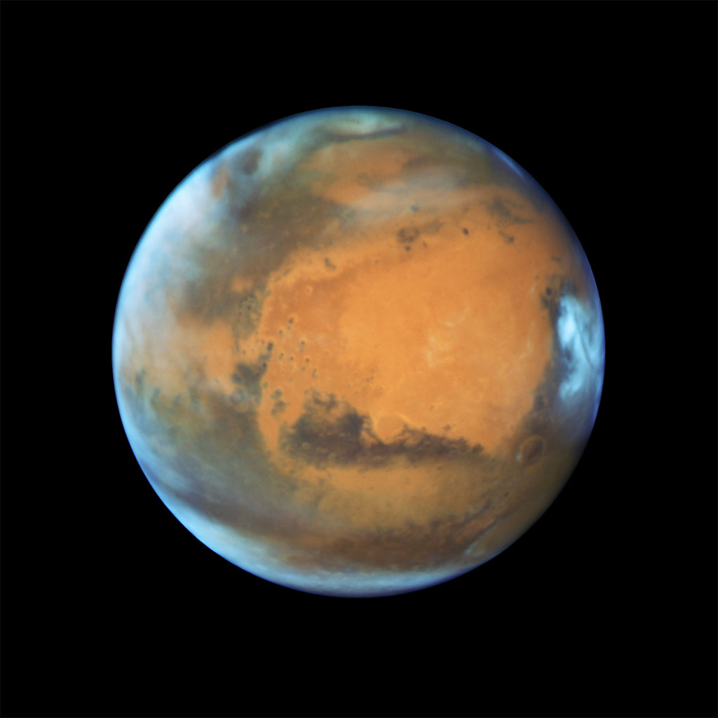 The image reveals details as small as 20 to 30 miles across. (NASA)