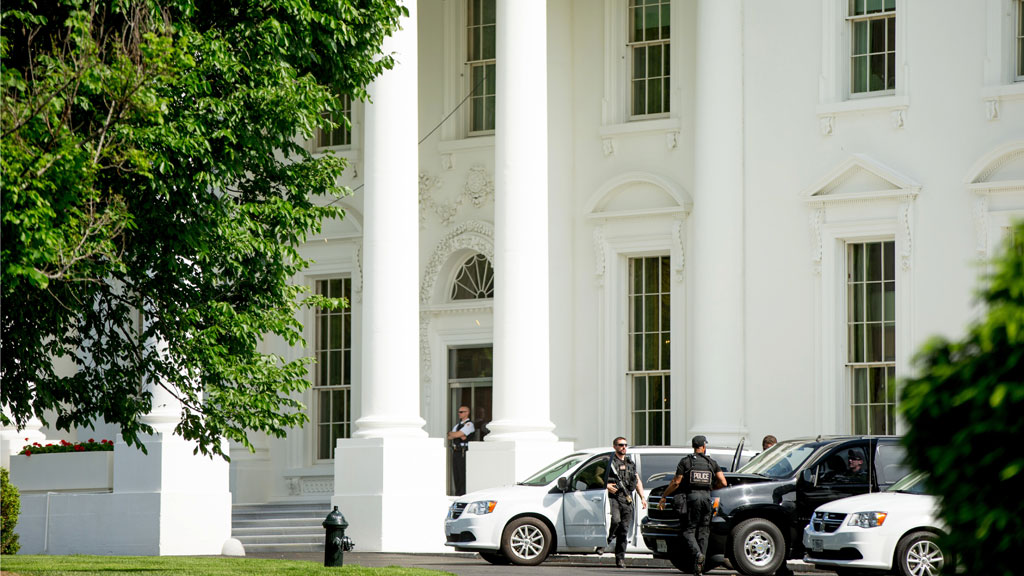 Secret Service agents shoot man 'brandishing weapon' outside the White House