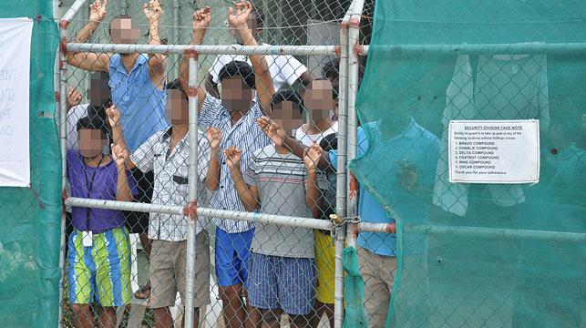 Asylum seekers on Manus Island. (AAP)