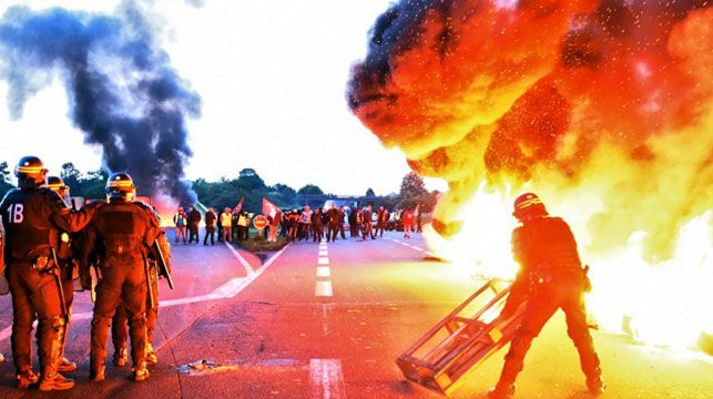 French workers riot causing fuel shortages