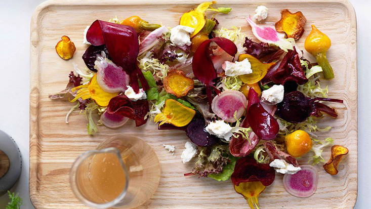 Shannon Bennett's textures of beetroot with feta