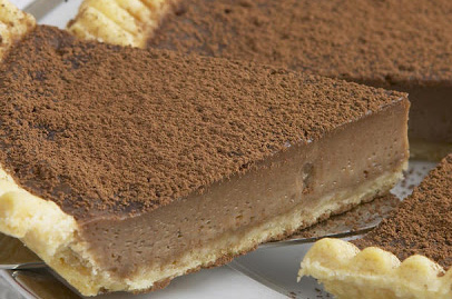 Chocolate and Irish cream custard tart