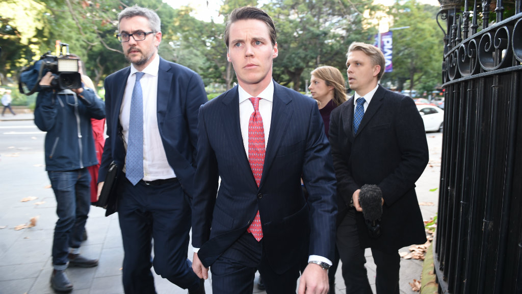 Oliver Curtis leaves the NSW Supreme Court. (AAP)