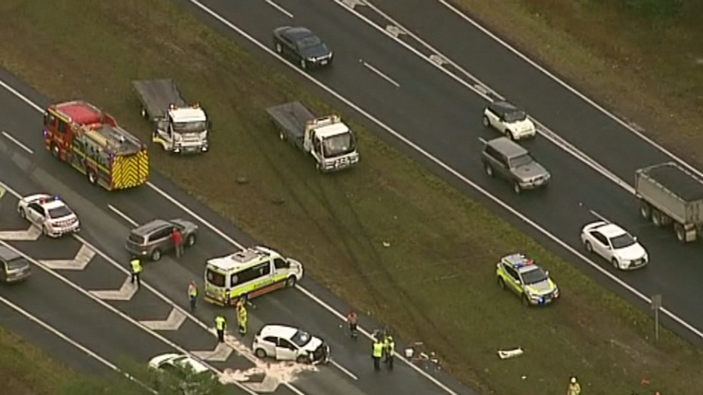 Two car crash causes further delays on Queensland's Bruce Highway
