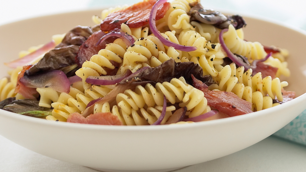 Fusilli with radicchio and pancetta