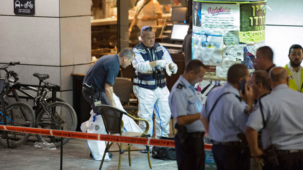 At least two gunmen opened fire at the Sarona Markets in Tel Aviv. (AAP)