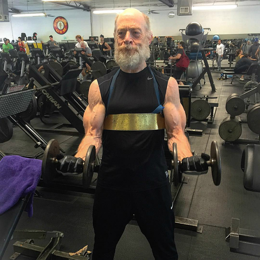 Academy Award winning US actor J.K. Simmons has undergone a stunning physical transformation. (Instagram: aaronvwilliamson)