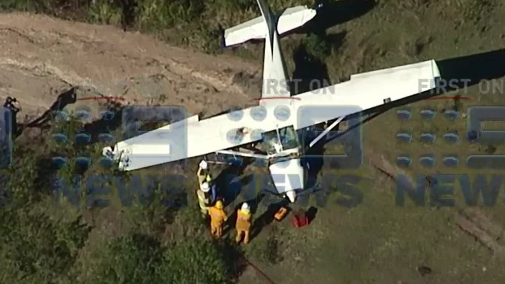 Two escape with minor injuries after light plane crash south of Gympie
