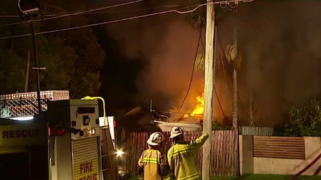 The family was made aware of the fire thanks to their barking dog. (9NEWS)