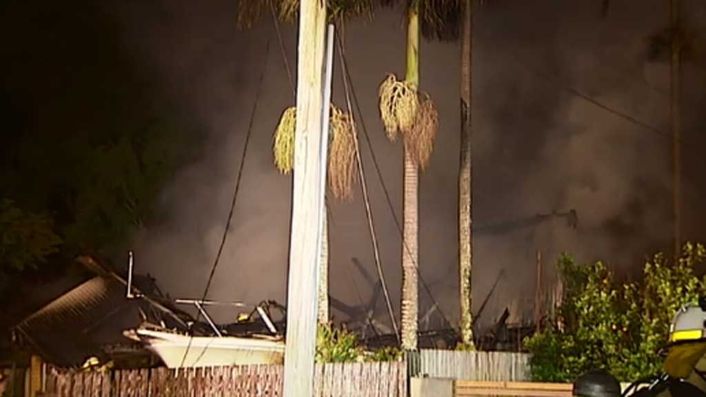 "Neighbours said they heard ""explosions"". (9NEWS)"