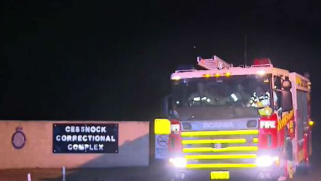Two inmates are in a critical condition after the fire last night. (9NEWS)