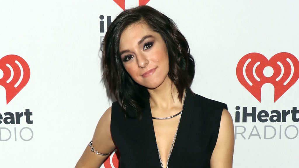 Christina Grimmie attending day one of the 2015 IHeart Radio Music Festival. (AAP)