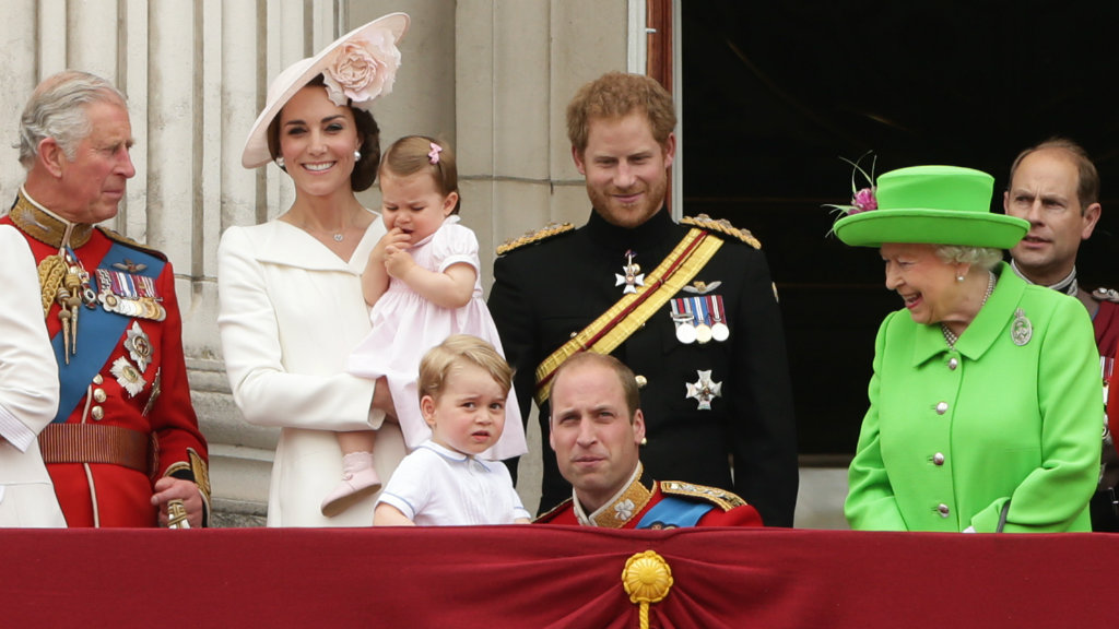 The Royal family at Buckingham Palace. (AAP)