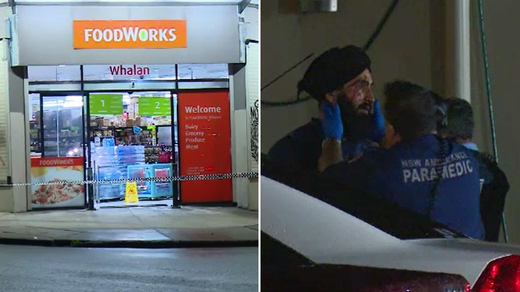 Sydney supermarket worker tasered during armed robbery