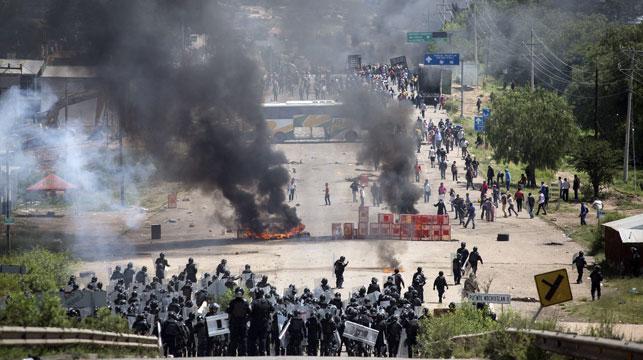 Three dead, dozens injured in Mexico teacher's protest