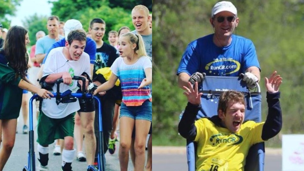 Man with cerebral palsy to compete in Ironman world championship aided by his father