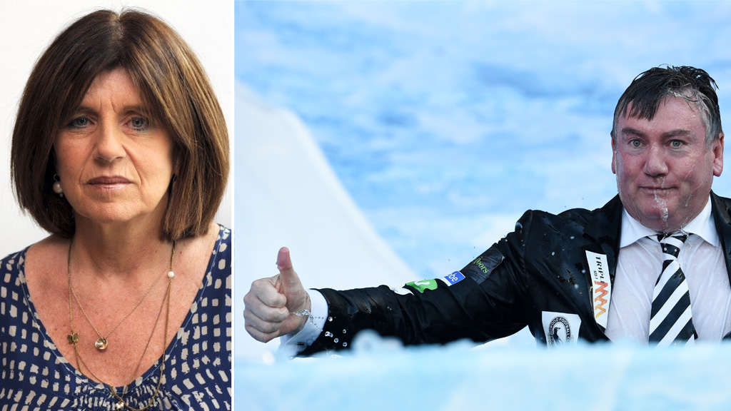 Eddie McGuire and Caroline Wilson make peace, after acting Victoria Police Commissioner weighs in on comments