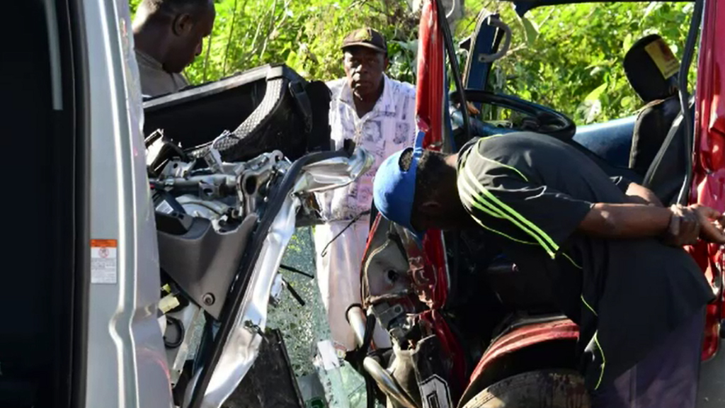 The crash happened yesterday afternoon in Port Vila.