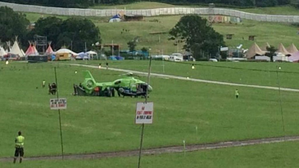 Man dies after catching fire at site of Glastonbury music festival in UK